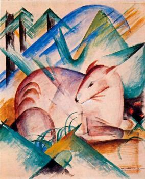 Franz Marc : Red Deer