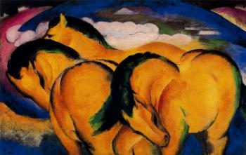 Franz Marc : Little Yellow Horses