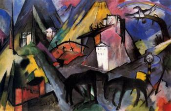 Franz Marc : The Unfortunte Land of Tyrol II