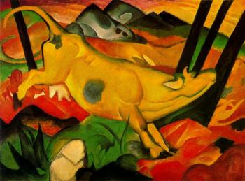 Franz Marc : The Yellow Cow II