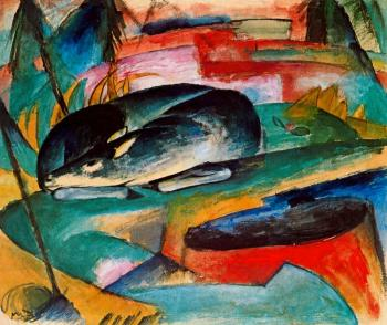 Franz Marc : Sleeping Deer
