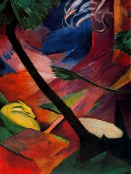 Franz Marc : Deer in the Forest II