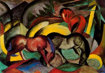 Franz Marc : Three Horses