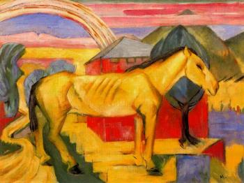 Franz Marc : Long Yellow Horse