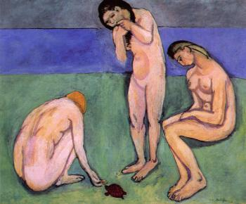 Henri Emile Benoit Matisse : Bathers with a Turtle