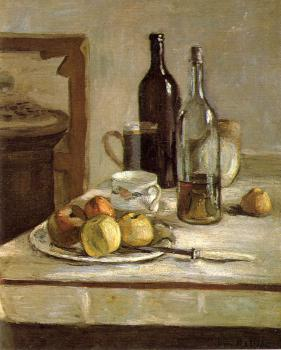 Henri Emile Benoit Matisse : still life with two bottles
