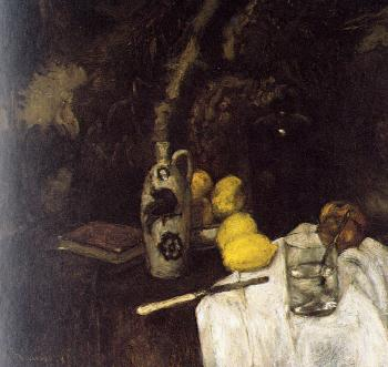 Henri Emile Benoit Matisse : still life with lemons and a bottle