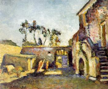 Henri Emile Benoit Matisse : the courtyard of the mill