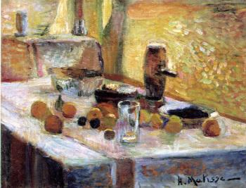 Henri Emile Benoit Matisse : first orange still life