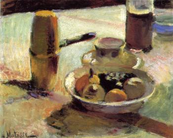 Henri Emile Benoit Matisse : fruit and coffee-pot