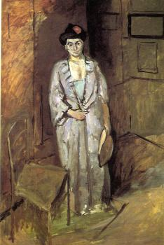 mme matisse in a Japanese robe