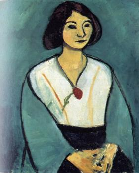 Henri Emile Benoit Matisse : lady in green