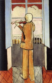 Henri Emile Benoit Matisse : violonist at the window