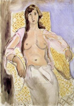 Henri Emile Benoit Matisse : woman in an armchair