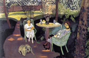 Henri Emile Benoit Matisse : tea in the garden