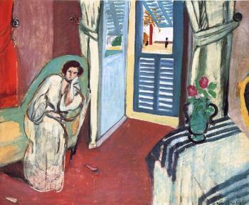 Henri Emile Benoit Matisse : woman on a sofa