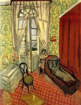 Henri Emile Benoit Matisse : two women in an interior