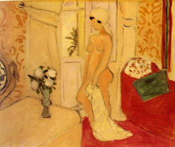 Henri Emile Benoit Matisse : the young woman and the vase of flowers
