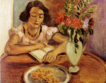 Henri Emile Benoit Matisse : woman reading II
