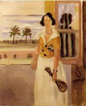 Henri Emile Benoit Matisse : woman with a mandolin