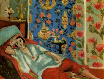 Henri Emile Benoit Matisse : odalisque with red culottes II