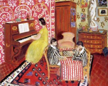 Henri Emile Benoit Matisse : pianist and checker players