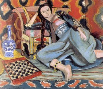 Henri Emile Benoit Matisse : odalisque with a turkish chair