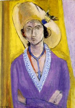 Henri Emile Benoit Matisse : the yellow hat