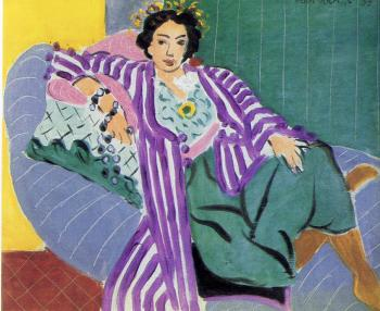 Henri Emile Benoit Matisse : small odalisque in a purple robe