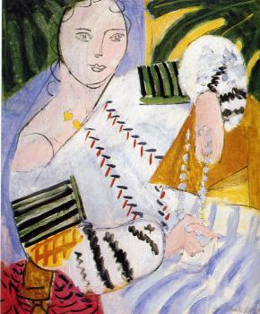 Henri Emile Benoit Matisse : the rumanian blouse with green sleeves