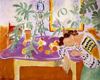 Henri Emile Benoit Matisse : still life with a sleeping woman