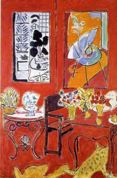 Henri Emile Benoit Matisse : large red interior