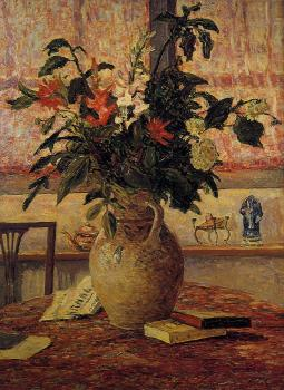 Maxime Maufra : A Bouquet of Flowers in front of a Window