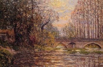Maxime Maufra : Sunset on the Loir, Lavardin