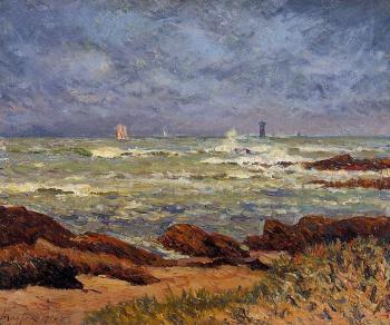 Maxime Maufra : The Barges Lighthouse