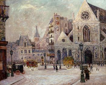 Maxime Maufra : The Church of Saint Nicolas of the Fields, rue Saint Martin