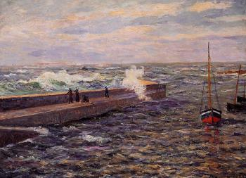 Maxime Maufra : The Jetty at Pontivy, Morbihan