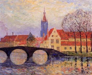 Maxime Maufra : The Leguenay Bridge, Bruges