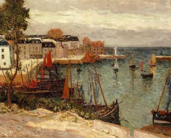 Maxime Maufra : The Port of Sauzon, Belle Isle en Mer