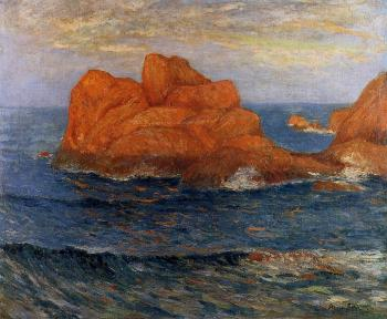 Maxime Maufra : The Red Rocks at Belle Ile, Finistere