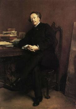 Portrait of Alexandre Jr Dumas