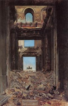 The Ruins of the Tuileries Palace after the Commune