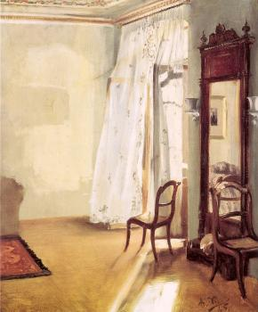 Adolph Von Menzel : The French Window