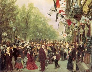 Adolph Von Menzel : William I Departs for the Front, July 31, 1870