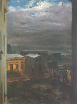 The Anhalter Railway Station by Moonlight