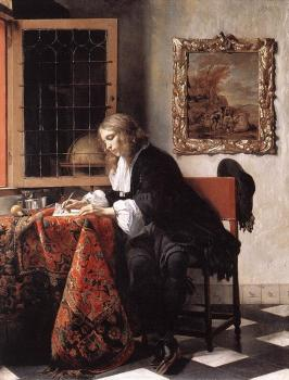 Man Writing a Letter