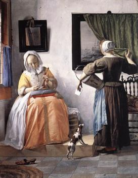 Gabriel Metsu : Woman Reading a Letter