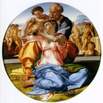 Michelangelo : The Holy Family with the Infant John the Baptist