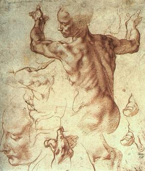 Michelangelo : Study for The Libyan Sibyl