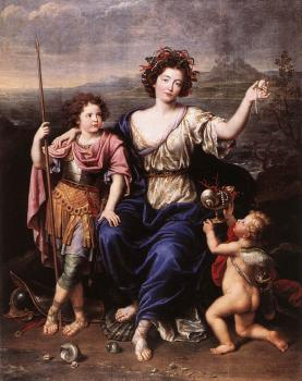 Pierre Mignard : The Marquise de Seignelay and Two of her Children